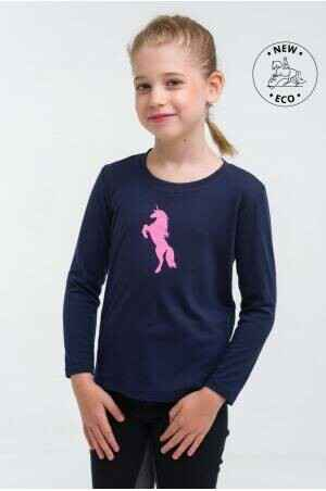 Cavalliera Riding Top Kids Long Sleeve Blue *
