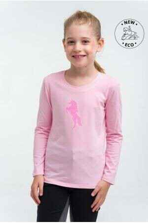 Cavalliera Riding Top Kids Long Sleeve Pink *