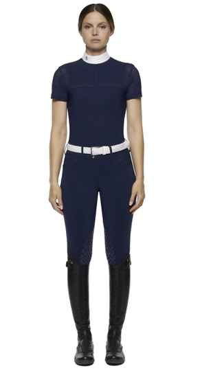 Cavalleria Toscane Short Sleeve With Perforated Insert**