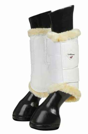Le Mieux Fleece Lined Brushing Boots White *