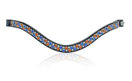 Judi Frontriem- Browband Famous II Odessa Double orange blue *