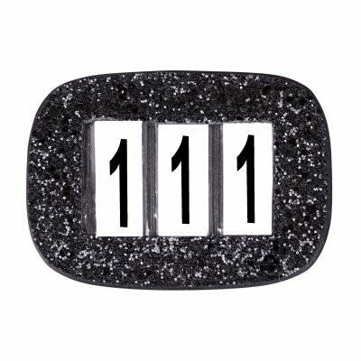 Competition Numbers Glitter Black