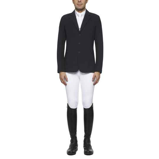 Cavalleria Toscana Riding Jacket Jersey and Knit Jacquard Men Navy