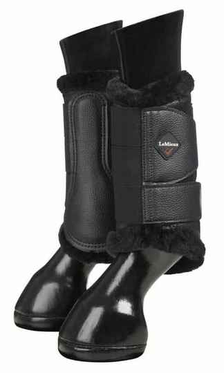 Le Mieux Fleece Lined Brushing Boots Black