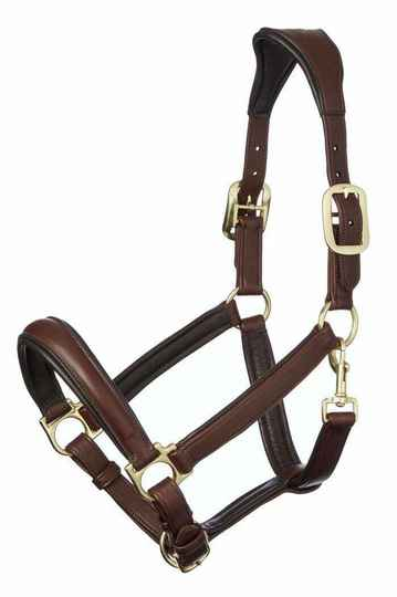 Le Mieux Anatomic Leather Headcollar Brown **