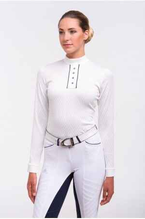 Cavalliera Showshirt Fatality Long Sleeve Off White