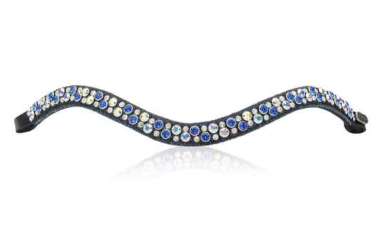 Judi Frontriem- Browband Crystal Fabric II Blue Odessa Double Sapphire AB