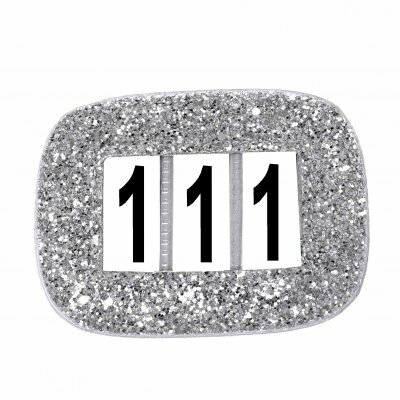 Competition Numbers Glitter Silver