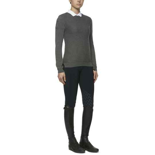 CT Wool Knit Honeycomb Boat Neck Sweater **