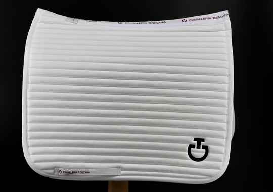 Cavalleria Toscana Bi-Color Mesh Dressage White logo Bordeaux