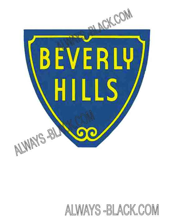 BEVERLY HILLS SIGN OLD