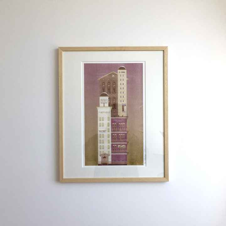 Noa Defesche - The Crockett Hotel - A3 Riso print
