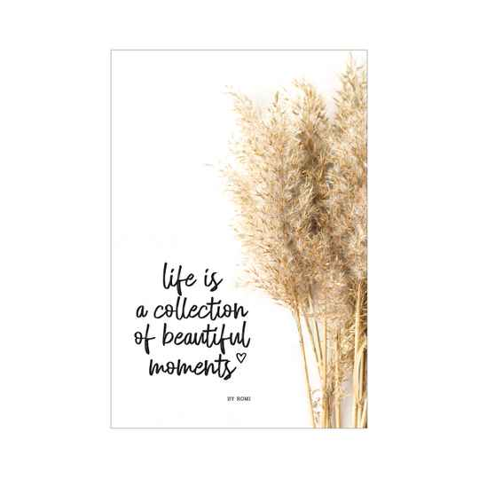 'Interieur' kaart / Life is a collection of beautiful moments