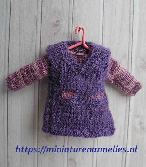 Overgooier met veelkleurige trui - Girls' pinafore and jumper