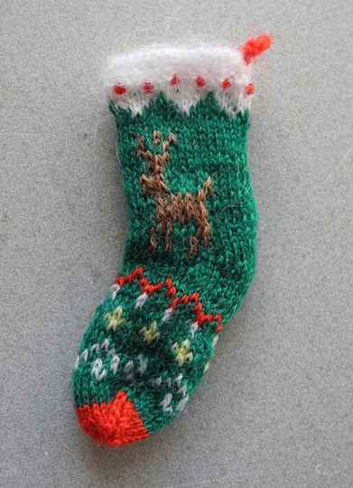 Kerstsok met hert - Christmas stocking with deer