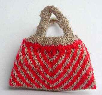 Breitas met verschillende kanten - Knitting bag with different sides