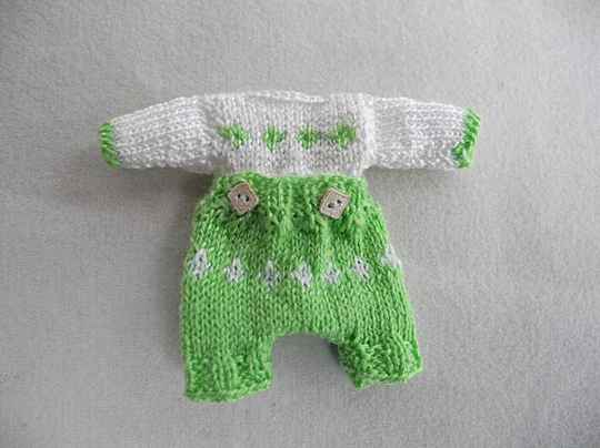 Baby knooppakje, groen - Baby suit with buttons, green