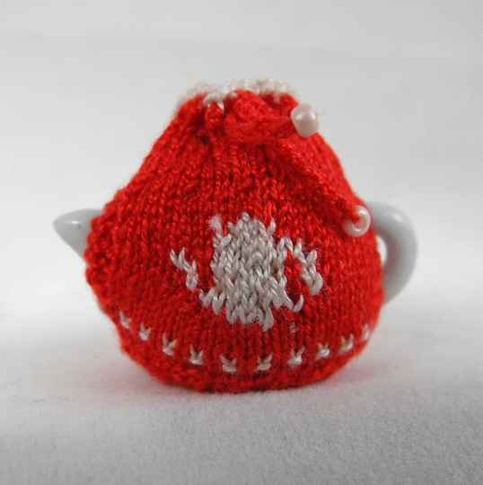 Theemuts theepot, rood - Tea cosy teapot, red