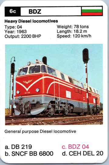 Top Trumps Locomotives - BDZ 04 - (Art.Nr.29)