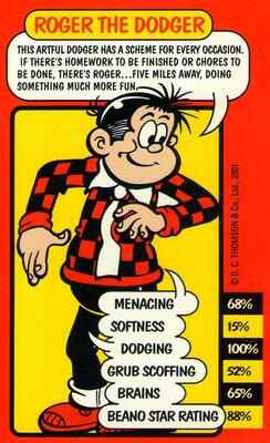Top Trumps The Beano - Roger The Dodger - (Art.Nr.38)