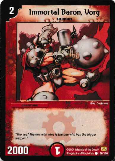 Duel Masters Immortal Baron, Vorg 80/110 Mint and Never Played