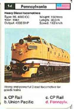 Top Trumps Locomotives - Pennsylvania - (Art.Nr.6)