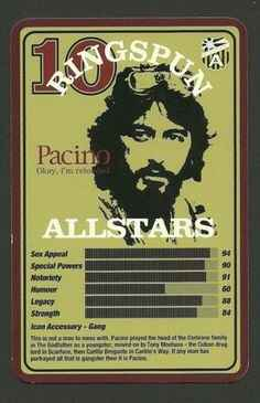 Top Trumps Ringspun allstars - Al Pacino The Godfather Scarface - (Art.Nr.22)
