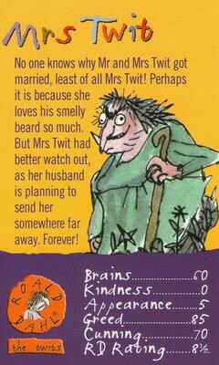 Top Trumps Specials The World Of Roald Dahl - Mrs Twit  - (Art.Nr.46)