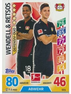 MA-17/18 -  501 - Wendell & Retsos - Duos