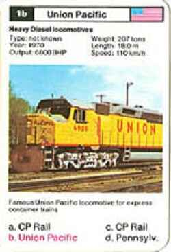 Top Trumps Locomotives - Union Pacific - (Art.Nr.5)