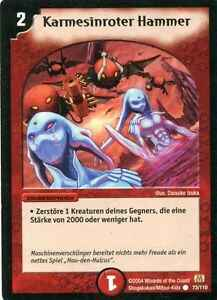 Duel Masters Karmesinroter Hammer  73/110 Mint and Never Played (D)