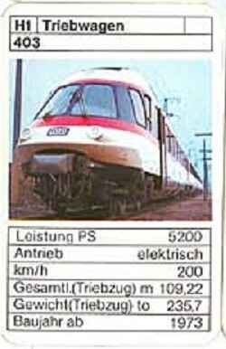 ASS - Loks - DB Triebwagen 403 - (Art.Nr.36)