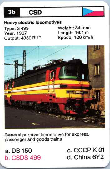 Top Trumps Locomotives - CSDS 499 - (Art.Nr.24)