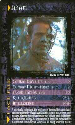 Top Trumps Buffy The Vampire Slayer  - Adam - (Art.Nr.10)