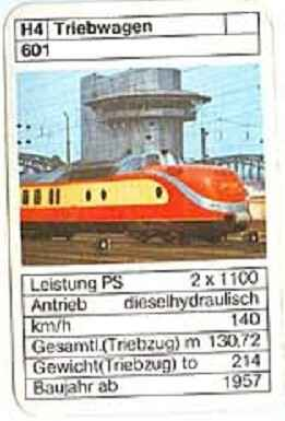 ASS - Loks - DB Triebwagen 601 - (Art.Nr.34)