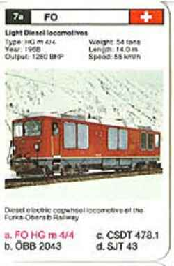 Top Trumps Locomotives - FO HG m 4/4 - (Art.Nr.3)