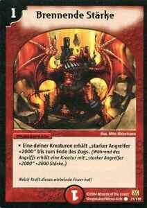 Duel Masters Brennende Stärke 71/110 Mint and Never Played (D)