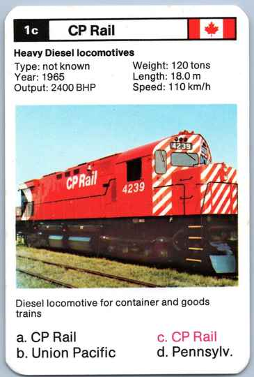 Top Trumps Locomotives - CP Rail - (Art.Nr.25)
