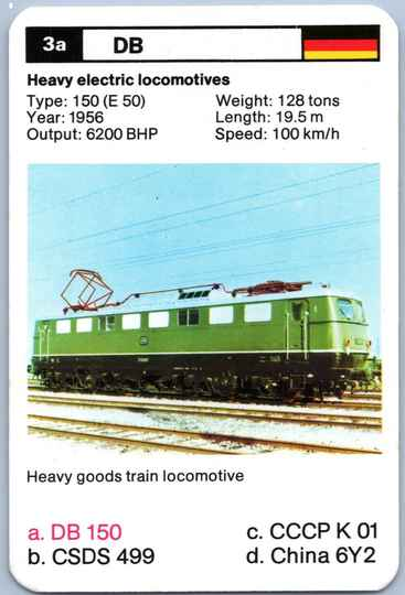 Top Trumps Locomotives - DB 150 - (Art.Nr.21)