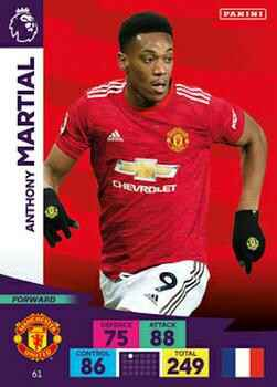 61 - Anthony Martial - Manchester United - Base card - AXPL 20/21