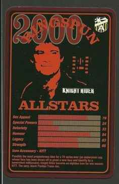Top Trumps Ringspun allstars - David Hasselhof - (Art.Nr.18)