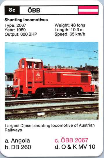 Top Trumps Locomotives - ÖBB 2067 - (Art.Nr.11)