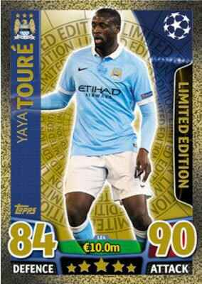LE4 - Yaya Toure - Limited Editions Gold - Champions League 2015/16