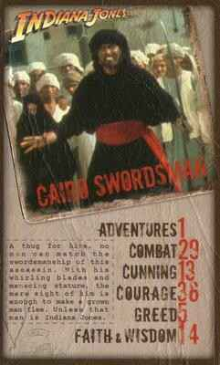 Top Trumps Specials Indiana Jones - Cairo Swordsman  - (Art.Nr.54)