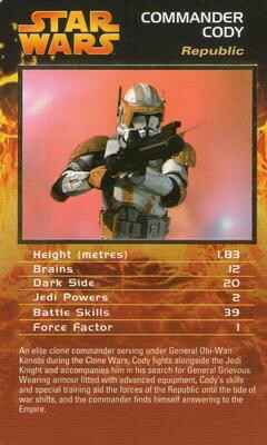Top Trumps Specials Star Wars Episodes 1-3 - Commander Cody  - (Art.Nr.47)