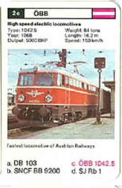 Top Trumps Locomotives - ÖBB 1042.5 - (Art.Nr.7)