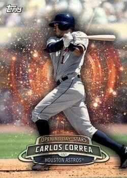 2017 Topps Opening Day  - #ODS-44 - Carlos Correa - Houston Astros