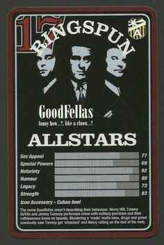 Top Trumps Ringspun allstars - GoodFellas - (Art.Nr.25)