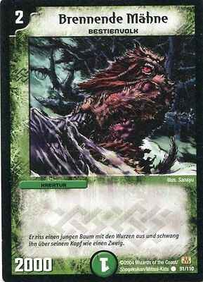Duel Masters Brennende Mähne 91/110 Mint and Never Played (D)