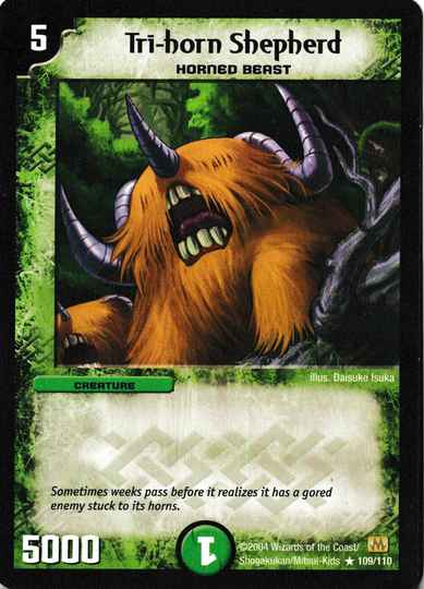 Duel Masters Tri-horn Shepherd 109/110 Mint and Never Played